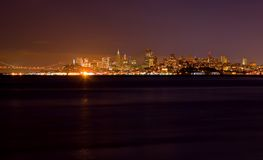 San Francisco skyline at night Stock Photos