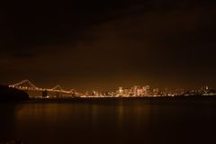 San Francisco skyline at night Stock Photography