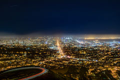 San Francisco Skyline at Night Royalty Free Stock Image