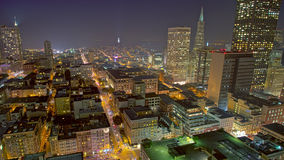 San Francisco Skyline at Night. San Francisco cityscape and city lights at night stock image