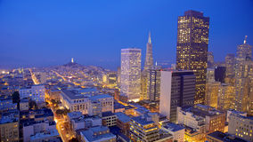 San Francisco Skyline at Night Royalty Free Stock Photos