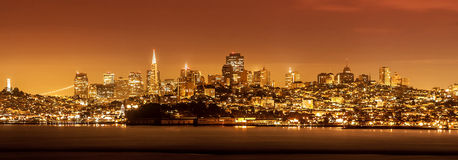 San Francisco skyline at night, USA Royalty Free Stock Photo