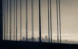 San Francisco skyline. From San Francisco-Oakland Bay Bridge Stock Images