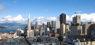 San Francisco Skyline (Panorama) Stock Photos
