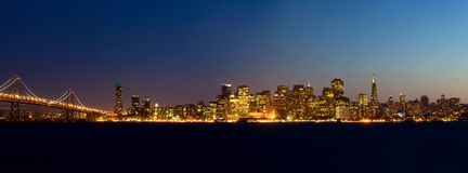 San Francisco skyline panorama stock photography