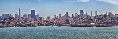 San Francisco Skyline Panorama fotografia de stock royalty free