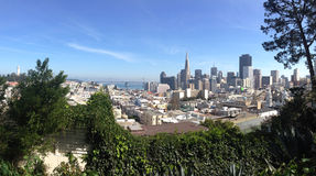 San Francisco Skyline Panorama Immagine Stock