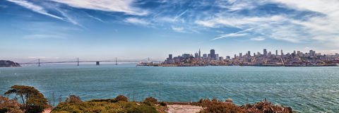 San Francisco Skyline Panorama Royalty Free Stock Images