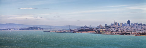 San Francisco Skyline Panorama Stock Photo