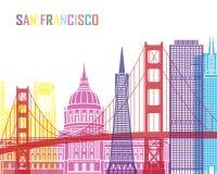 San Francisco skyline pop_V2. San Francisco V2 skyline pop in editable vector file Stock Photography