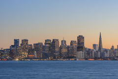 San Francisco skyline and ports Royalty Free Stock Images