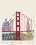 San Francisco skyline poster Stock Photography