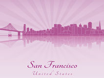 San Francisco skyline in purple radiant orchid Stock Photography