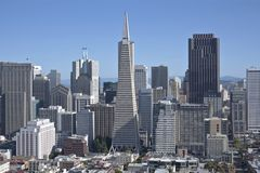 San Francisco skyline and residential area. Stock Photo