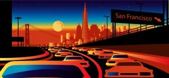 San Francisco skyline. Stylized skyline Royalty Free Stock Photography