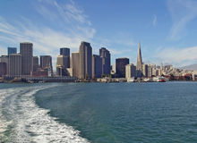 San Francisco skyline from sea Royalty Free Stock Photography