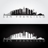 San Francisco skyline silhouette royalty free illustration