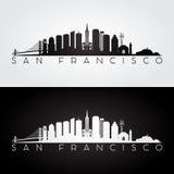 San Francisco skyline silhouette Stock Image