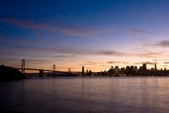 San Francisco skyline at sunset Stock Photos