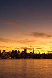 San Francisco skyline at sunset Stock Photography