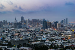 San Francisco Skyline at Sunset Stock Image