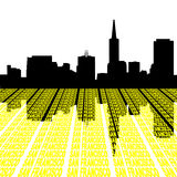 San Francisco Skyline with text. San Francisco Skyline with perspective text illustration Royalty Free Stock Photography