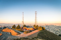 San Francisco skyline from Twin Peaks Royalty Free Stock Image