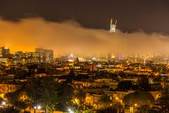San Francisco Skyline under heavy fog Royalty Free Stock Photos