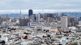 San Francisco Skyline, Zoom Out (Cities) Stock Images