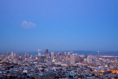 San Francisco skylines at sunset Stock Photo
