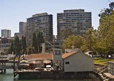 San Francisco Small Boat Drydock Royalty Free Stock Photo