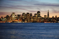 San Francisco am Sonnenuntergang Stockfoto