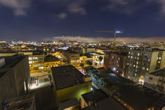 San Francisco South of Market Night Royalty Free Stock Photography