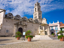 The San Francisco Square in Old Havana Royalty Free Stock Photo