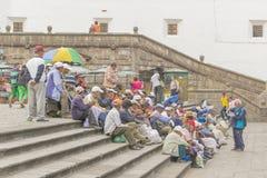 San Francisco Square Quito Ecuador Stock Photography