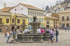 San Francisco Square Quito Ecuador Stock Images