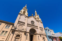 San Francisco St Peter and Paul Church at Washington Square Royalty Free Stock Photo