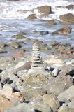 San Francisco Stack of Rocks by the Pacific Ocean royalty free stock images