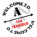 San Francisco stamp Royalty Free Stock Photography