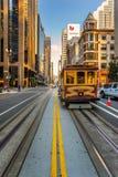 San Francisco-Standseilbahn Stockbild