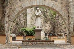 San Francisco Statue Guanajuato. A statue of San Francisco in white marble inside a typical quiet hacienda garden in Guanajuato, mexican colonial heartland Royalty Free Stock Photos