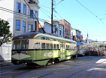 San Francisco Street Car. An antique streetcar in San Francisco, CA Stock Photography