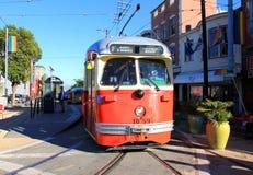 San Francisco Street Car. An antique streetcar in the Castro, San Francisco, CA Royalty Free Stock Photos