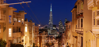 San Francisco Street Panorama Stock Photography