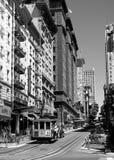 San Francisco Street (preto & branco) Fotografia de Stock Royalty Free
