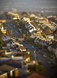 San Francisco Street Tilt-Shift. San Francisco Residential Street Tilt-Shift royalty free stock photos