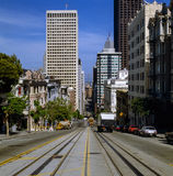 San Francisco. Street in San Francisco with traffic royalty free stock images