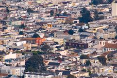 San Francisco streets overlook. California royalty free stock images