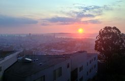 San Francisco Sun Stock Image