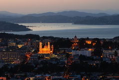 San francisco at sundown Royalty Free Stock Photos